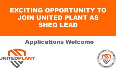 SUPERB OPPORTUNITY TO JOIN UNITED PLANT AS SHEQ LEAD